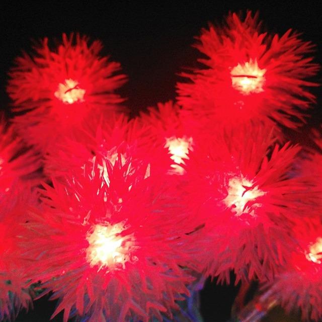 Cute Snowballs Shaped Plug-Typed Christmas LED String Light