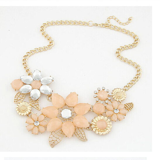 2016 New Fashion Statement Necklaces Collares Romantic Gold Color Long Chain Big