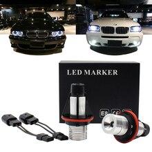 цена на FSYLX Angel Eyes Demon eyes light car Auto Lamp 12V For BMW E39 E53 E60 E61 E63 E64 E65 E66 E83 E87 canbus no error headlight