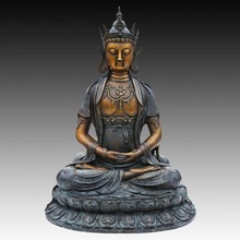 ATLIE BRONZES  Chinese Buddha statue The Tathagata of manna King figurine Buddhist religious Temple decoration