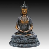 Atlie бронзы китайская статуя Будды татхагата из Манна King фигурка Будды буддийской религиозной храм украшения