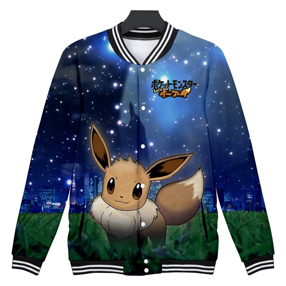 2018 Nuovo 3d Pokemon Andiamo Rivestimento Di Baseball Degli Uomini/donne Pokemon 3d Giacca Invernale Degli Uomini Di Modo Giacca 3d Tuta Sportiva Degli Uomini Di Grandi Dimensioni