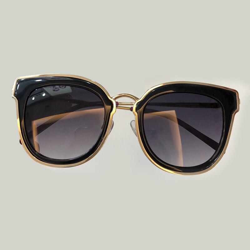 Lunettes de soleil de luxe pour les yeux de chat femmes conception de marque de mode 2018 Vintage surdimensionné lunettes de soleil dégradé de haute qualité lunettes de soleil femmes