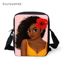 ELVISWORDS Fashion Messenger Bag Cute American Girls Prints Pattern Small Women Bags Crossbody Mini Shoulder Purses