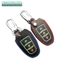 Hand Sewed Leather Car smart Key Cover fit For lifan marveii myway 2016 2017 2018 Keys Protection Case Chain car Accessories inokim myway