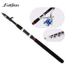 Fishing Rods With Reels Winter Rod Combo Hard Pole Tackle Casting Travel Sea Fishing Spinning Rod For Lures 2.1-3.6M