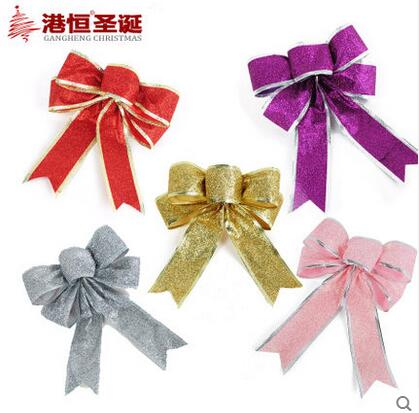 christmas tree decorations 20cm gold powder christmas bow tie sdhdj 06 in christmas bows from home garden on aliexpresscom alibaba group