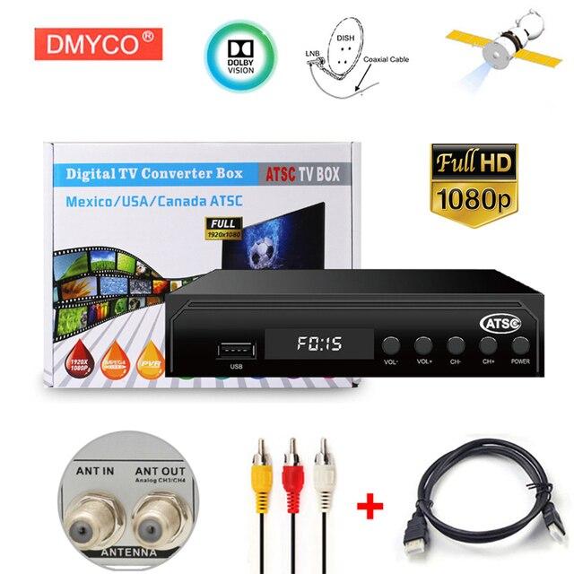 1080P ATSC Digital Converter Terrestrial Broadcast South Korea Tv Box Receiver Antenna USB Recording Playback HD Dolby decoding