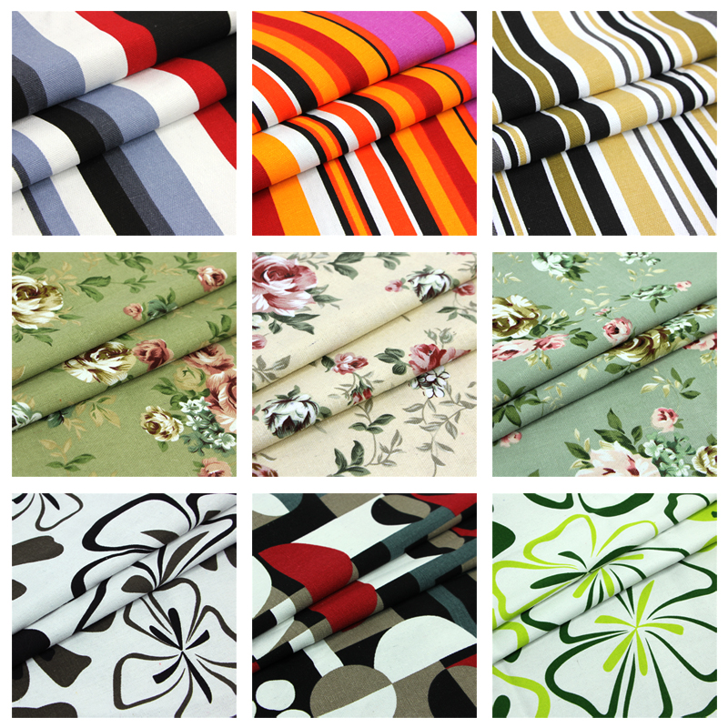 2Meter/Lot 150CM Width100% Cotton Canvas Fabric Print ...