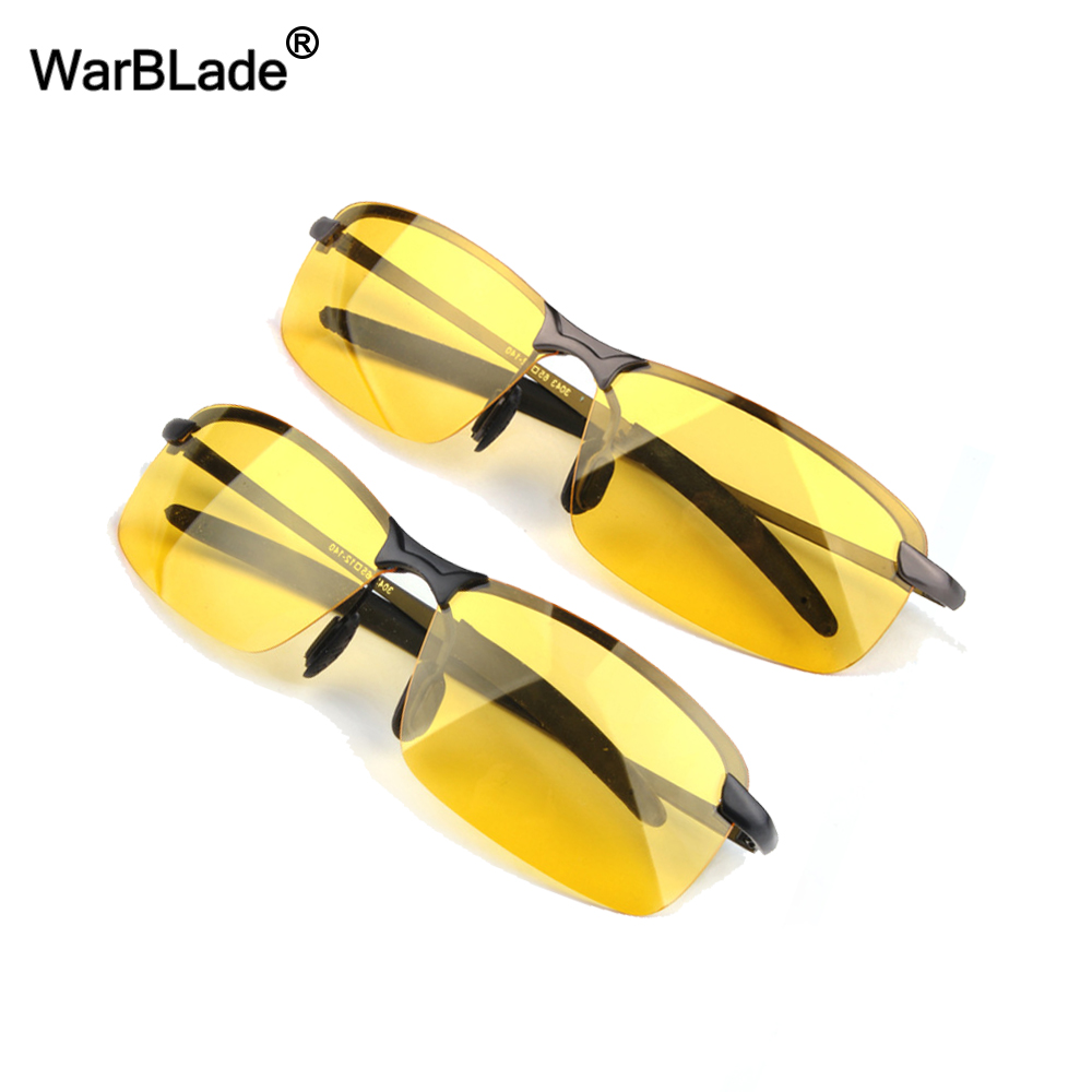 Heißen männer Aluminium-Magnesium Auto Treiber Nachtsicht Brille Anti-Glare  Polarisator Sonnenbrille Polarisierte Gläser Fahr WarBLade d70ff3488c