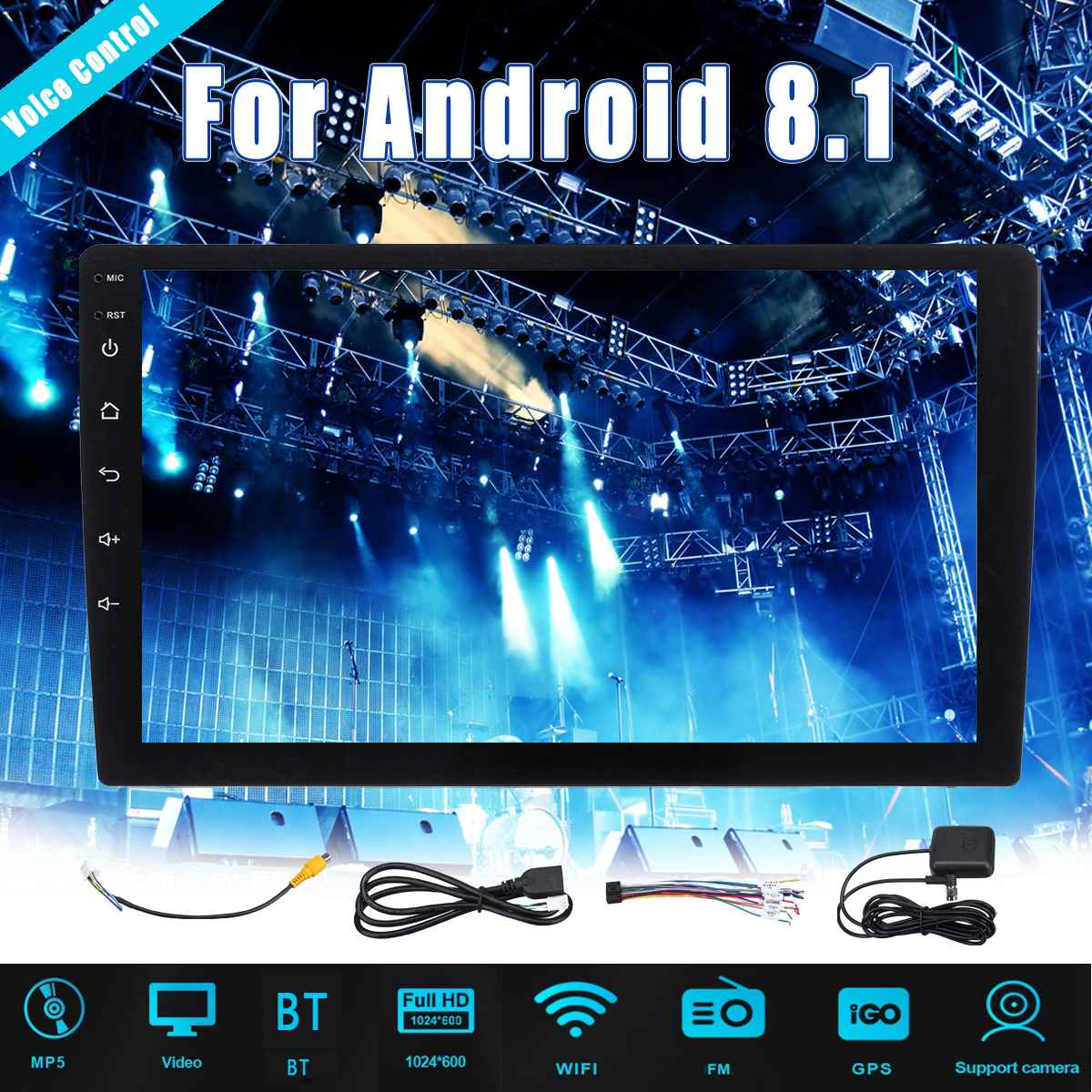 1+16G 10.1 INCH Android 8.12 DIN Voice control Car Multimedia Player Car Stereo Radio Video MP5 for Honda For Audi For BMW1+16G 10.1 INCH Android 8.12 DIN Voice control Car Multimedia Player Car Stereo Radio Video MP5 for Honda For Audi For BMW