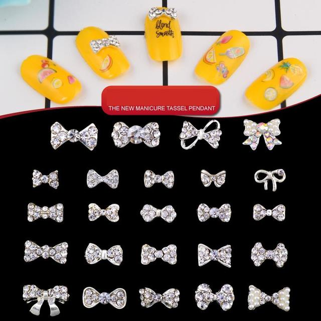 2018 New Rhinestones for Nails Colorful Bow Tie Nail Art Decoration Best  Selling Nail Design Accessoires High Quality 24 Types 141d797ae700