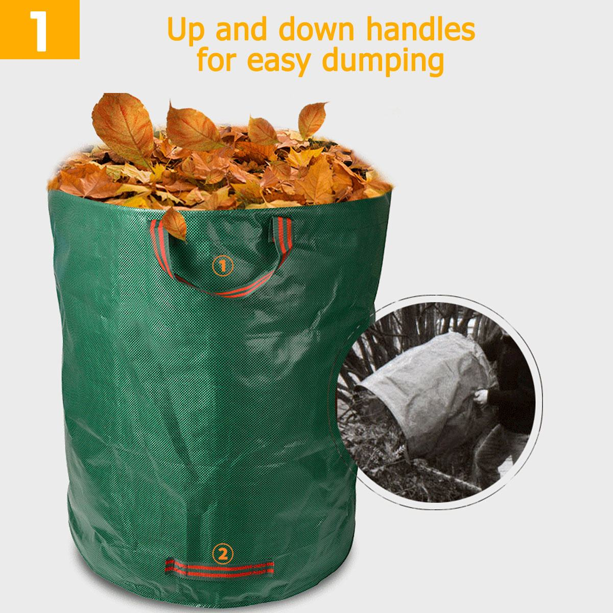 Large Capacity Heavy Duty Garden House Waste Trash Bag Durable Waterproof Yard Leaf Grass Container Storage 120L 300L 500L