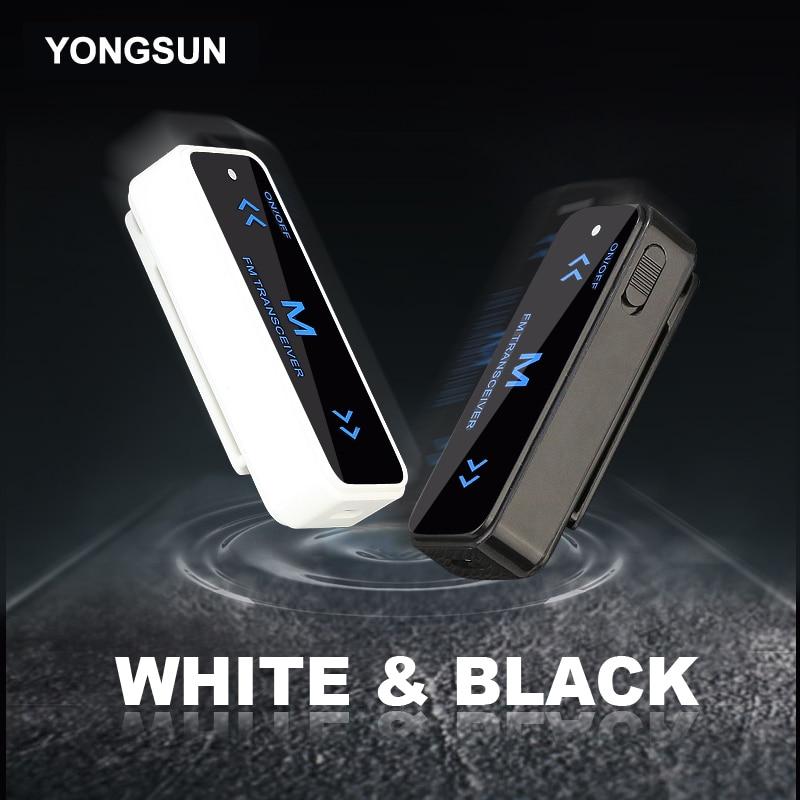 YONGSUN Plus Petit Mini Talkie Walkie 0.5 W UHF 400-470 Mhz PMR Jambon Radio FM Émetteur-Récepteur Radio Bidirectionnelle USB De Charge + Casque 2 PCS
