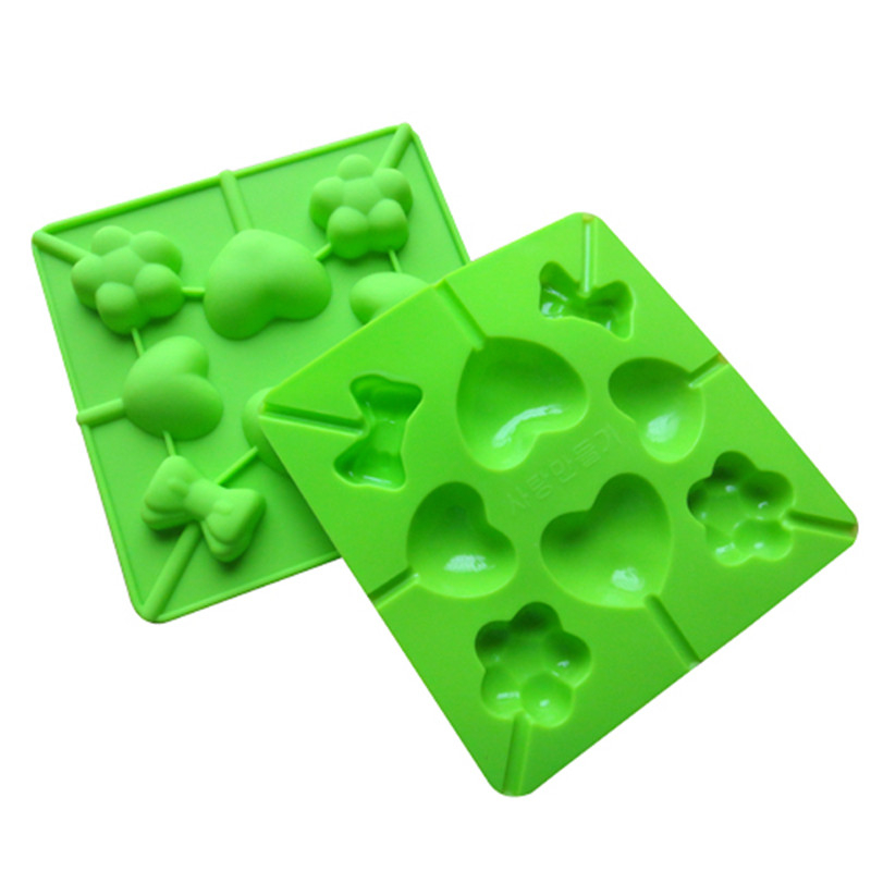 Home & Garden Lovely Silicone Mold Diy Lollypop Chocolate Mould Silicone Ice Tray Mold Ice Cube Lollygags Candy Pudding Love Bowtie Flower Kid