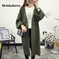 Donna Long Cardigan Women Sweater 2017 Winter Vintage Stripes Knitted Cardigans Plus Size Casual Woman Knitted Sweater Coat M84S