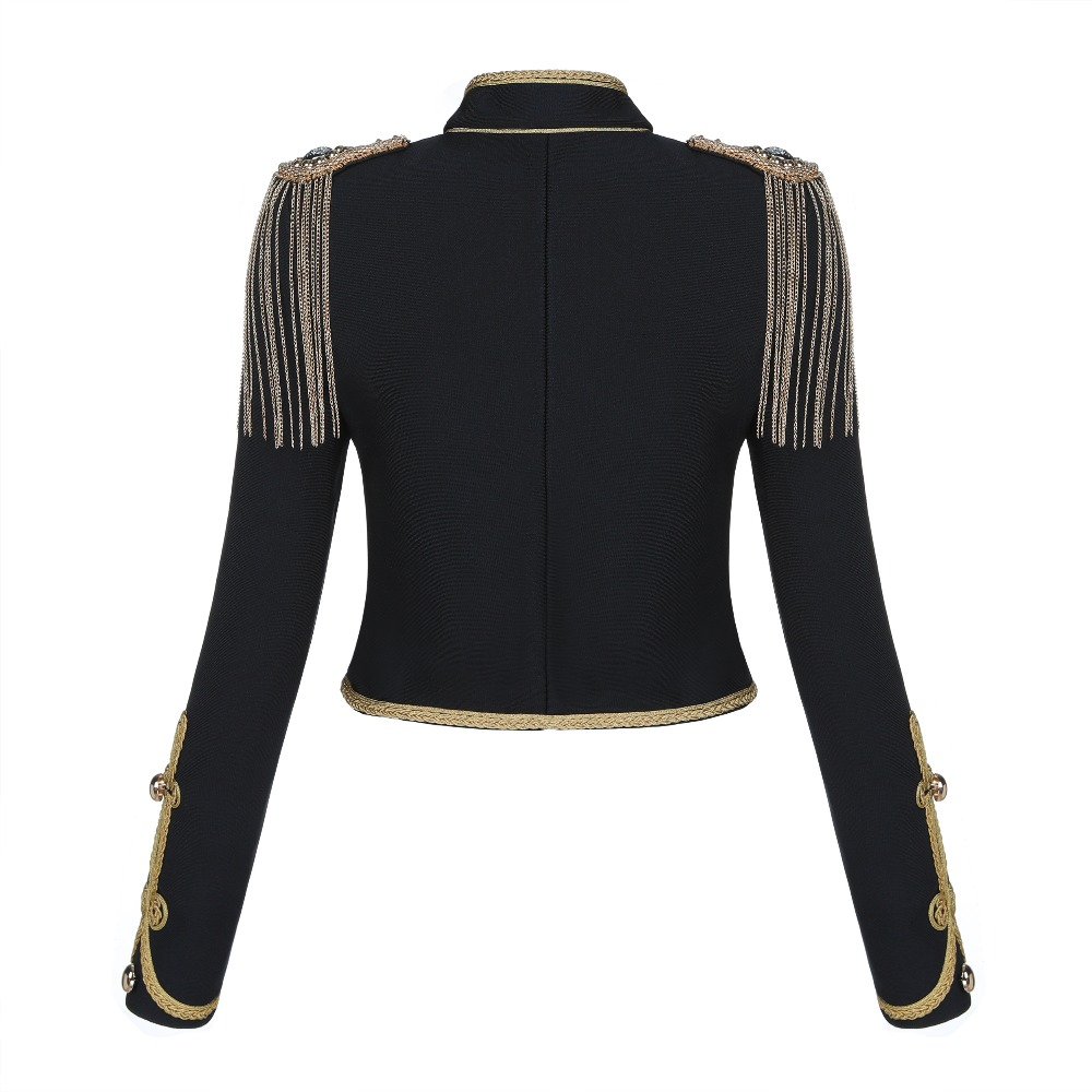 Nouvelles Noir De Mode Vestes Boutons En Soirée Femmes Tricoté 2018 Célébrité Veste Manteaux V Bandage Gros Col dwqFx