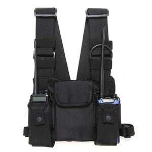 Image 1 - Radio Borst Harnas Borst Front Pack Pouch Holster Vest Rig Carry Cade Voor Twee Manier Radio Baofeng Tyt Wouxun Moto walkie Talkie