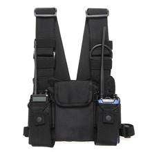 Radio Chest Harness Chest Front Pack Pouch Holster Vest Rig Carry Cade for Two Way Radio Baofeng TYT Wouxun Moto Walkie Talkie