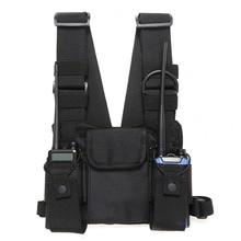 Radio poitrine harnais poitrine avant Pack pochette étui gilet plate forme de transport Cade pour Radio bidirectionnelle Baofeng TYT Wouxun Moto talkie walkie