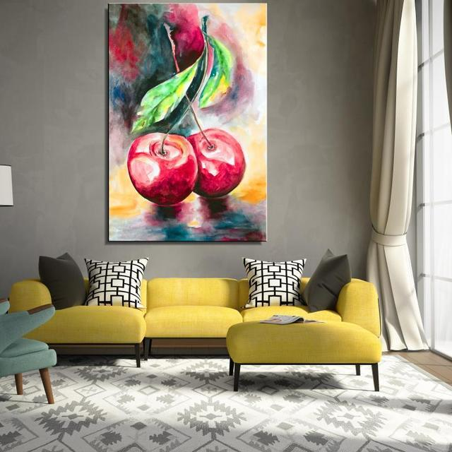 Le Cherry Leaf Seascape Realist Oil Painting Home Decor Spray Frameless Canvas Drawing Unframed Picture Realistic Straw