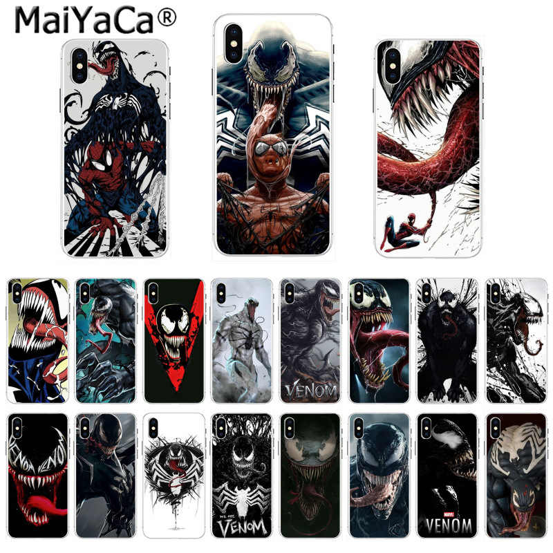 MaiYaCa Soft TPU silicone Phone Case Marvel Deadpool Venom Villain Super Hero  for iPhone 8 7 6 6S Plus X 55S SE 44S XS XRXS max