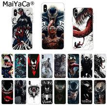 7aedb7caf3c MaiYaCa suave TPU silicona teléfono funda Marvel Deadpool Venom villano  Super héroe para iPhone 8 7 6 S Plus X 55 iPhone 44 S XS.