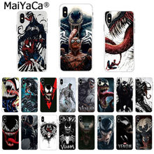 MaiYaCa futerał na telefon TPU Marvel Deadpool jad czarny charakter Super Hero dla iphone 11 pro 8 7 66S Plus X 55S SE 44S XS XRXS max(China)