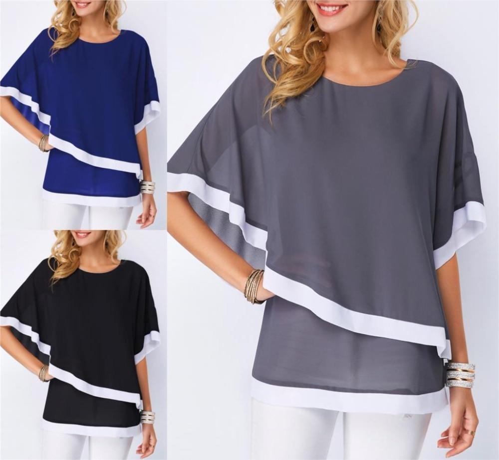 Cobalt Blue Open Shoulder Cutout Trapeze Handkerchief Hem Top 01 zz Shirt S M L