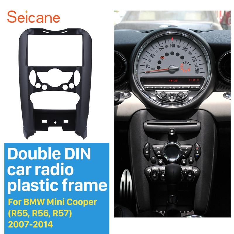 Seicane 2 Din Stereo Interface DVD Player Frame Dash Panel Radio Fascia Trim installation Kit for BMW Mini Cooper R55 R56 R57 seicane double din radio fascia refitting frame stereo panel for bmw 3 e90 e91 e92 e93 with auto ac dash cd trim installation