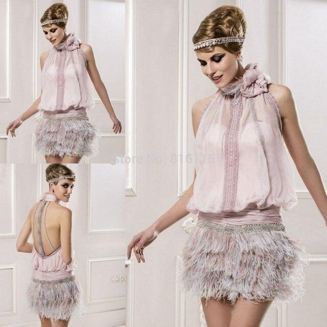 Vestidos de fiesta con plumas baratos