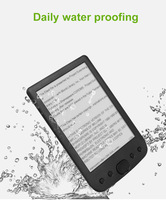 ELECTSHONG 8GB E book reader 6 inch E ink screen built in 2500mAh battery & Spearker pocket books gift pu cover