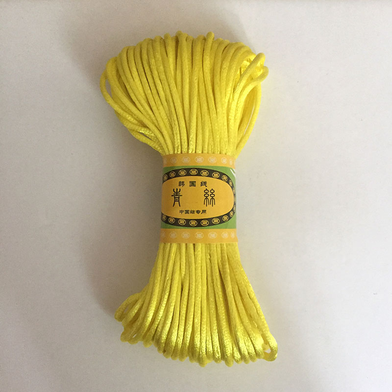 20 Meters Rattail Satin Cord Yellow Orange Nylon Macrame Beading String 2 5mm Knitting Rope Chinese Knot Cord RATTAIL Thread in Jewelry Findings Components from Jewelry Accessories