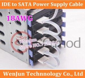 Высококачественный жесткий диск SATA кабель питания 4Pin IDE Molex до 5 SATA разъем свинца 18AWG для HDD SSD клетка ПК сервер DIY