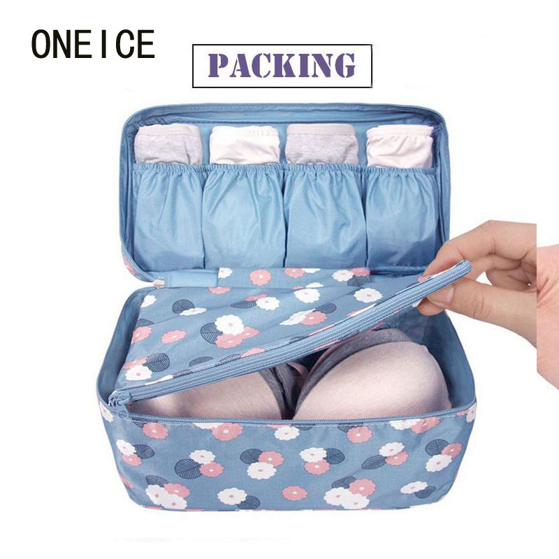New Storage Box Underwear Bra Packing Makeup Make Up Organizer Cosmetic  Cloth Storage Travel Bags Waterproof Clothes Organizer