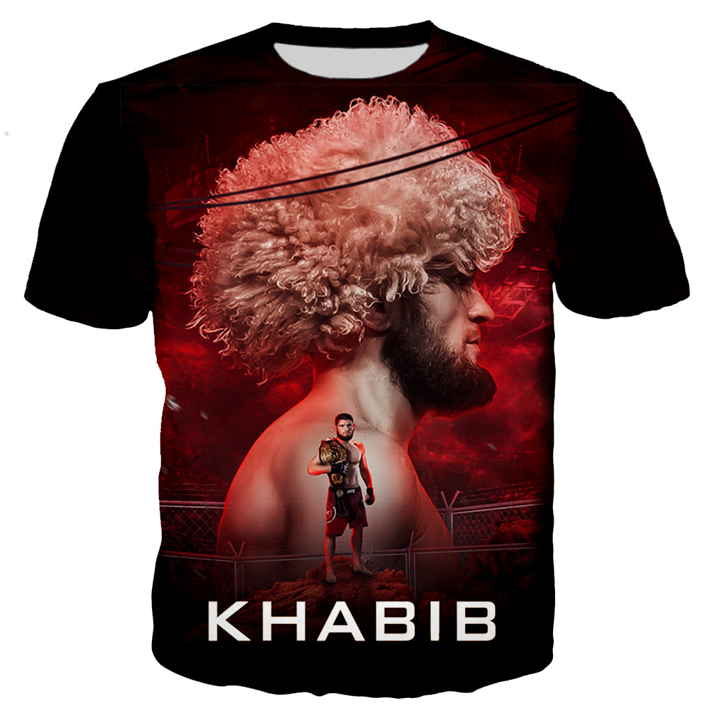 New Arrive Boxing Star Khabib Nurmagomedov 3D Print Men Women Fashion Cool T Shirt/hoodies/sweatshirts/vest/ Tops Dropshipping