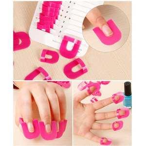 26 PCS Pack Plastic Case Professional Nail Art Manicure Stickers Salon Tools Set