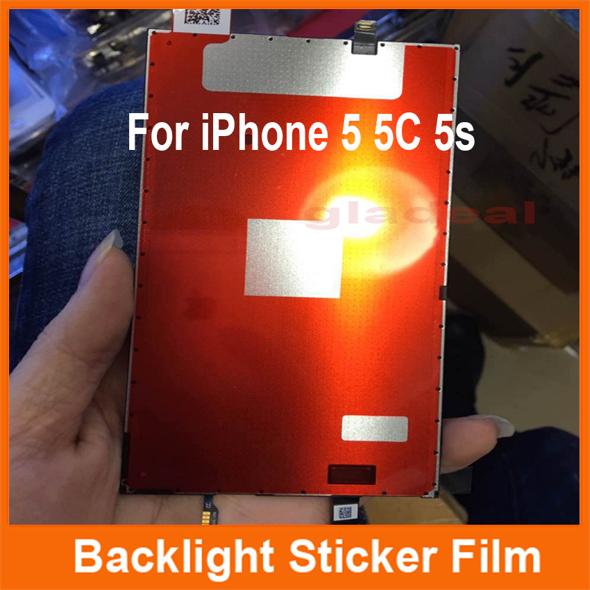 100 Pcs LCD Backlight Sticker Film Refurbishment Refurbished Replacement Repair Parts For iPhone 5 5C 5S