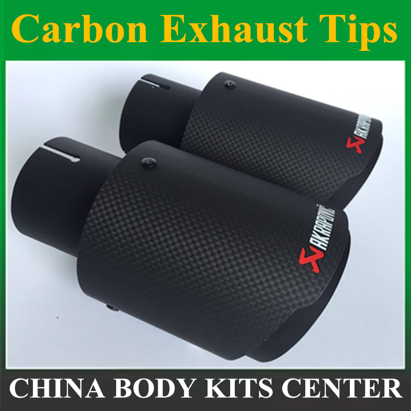 1 PC B Matte Akrapovic exhaust car carbon Exhaust Tip car-styling exhaust pipe muffler tip carbon fiber exhaust tip new m performance carbon exhaust tip for bmw series m3 m4 m5 2012 car styling akrapovic car exhaust muffler nozzle tip