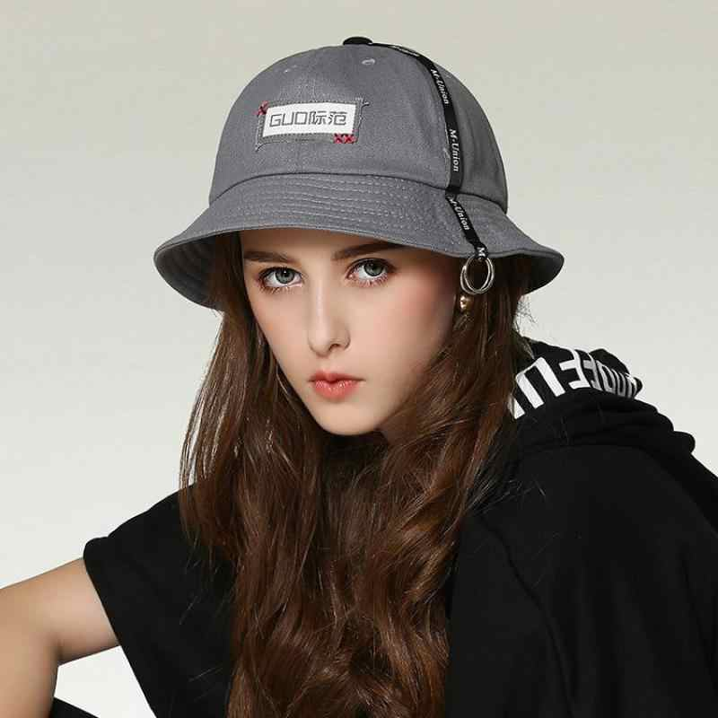 be86debc5491f0 ... COKK Women Bucket Hat Hip Hop Fishing Hat Folding Fishermen Cap Summer  Hats For Women Men