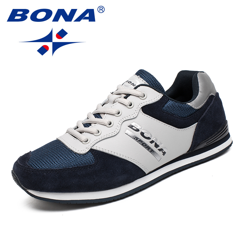 BONA New Classics Style Men Running Shoes Outdoor Jogging Sneakers Lace Up Male Athletic Shoes Comfortable Soft Free ShippingBONA New Classics Style Men Running Shoes Outdoor Jogging Sneakers Lace Up Male Athletic Shoes Comfortable Soft Free Shipping