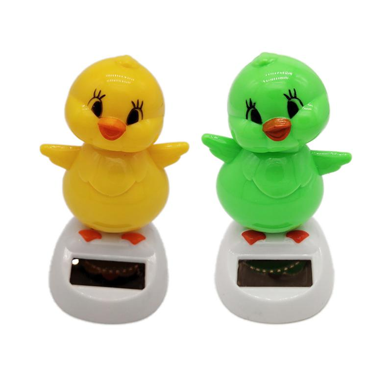Adorable Cute New Solar Powered Dancing Animal Chick Swinging Animated Bobble Dancer Toy Car Decoration Gift