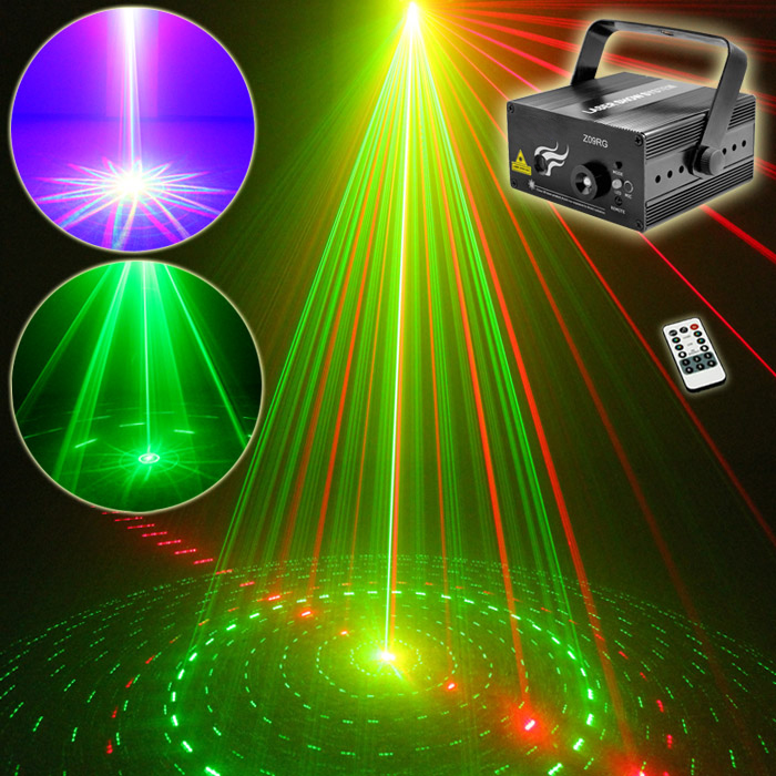 DJ Laser 3 Lens 9 Patterns Club RG Laser BLUE LED Stage Lighting Home Music Party Professional Projector DJ Light Disco Z09RG