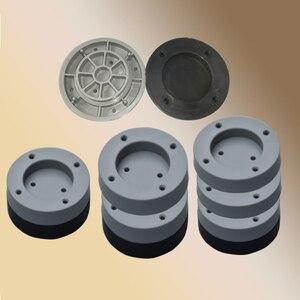 Image 4 - 4 Máy Giặt Chống Sốc Lót Tủ Lạnh Lớn Thiết Bị Nội Thất Tắt Tiếng Thảm Cao Su Chống Rung Miếng Lót Bảo Vệ Sàn Nhà