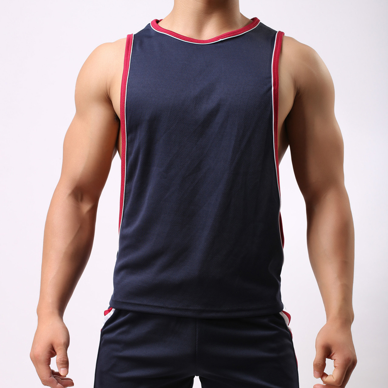 New 2019 breathable Sport Running Jogging GYM Top Men Training Sleeveness Basketball Vest Bodybuilding Fitness Quick Dry Jerseys