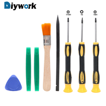 DIYWORK 8Pcs/Set Screwdriver Torx T8 T6 T10 H35 Pry Repair Tool Kit Screw Driver Opening Tools Set For Xbox One Xbox 360 PS3 PS4