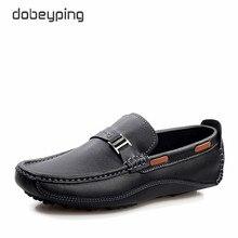 Nieuwe Stijl mannen Loafers Hoge Kwaliteit Koe Lederen Man Rijden Schoenen Casual Mocassins Mannelijke Flats Slip Op Schoen Plus Size 38-47