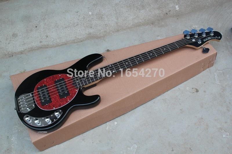 factory high quality 5 string music man stingray active pickups 9v battery guitar electric bass. Black Bedroom Furniture Sets. Home Design Ideas