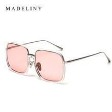 MADELINY Cuadrados NUEVAS Mujeres gafas de Sol 2017 Del Diseñador de la Marca de Metal Vintage Mujer Gafas de Sol gafas De Sol Oculos MA236