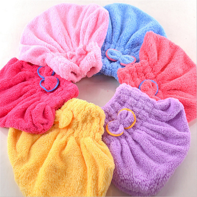 Ouneed Tessile in microfibra capelli turbante rapidamente asciutto cappello di c